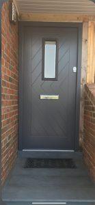 Plastic coated door